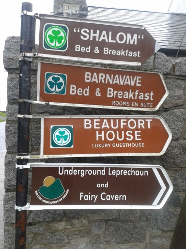 Leprechaun and Fairy Cavern Sign