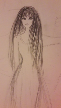Mystical girl sketch