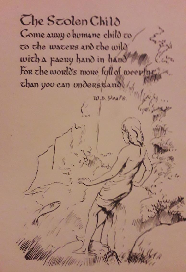 The Stolen Child William Butler Yeats Postcard Sligo