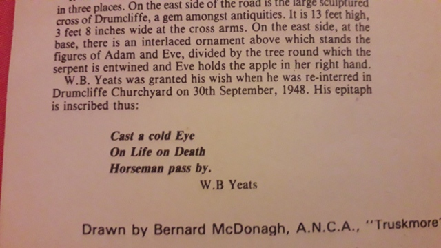 WB YEATS Cast a cold eye on death Horsemen Pass by