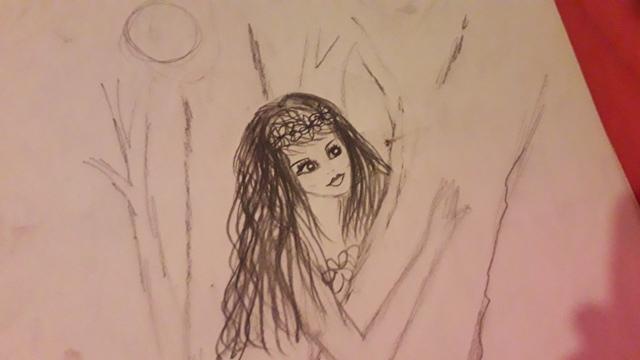 Wood Nymph sketch