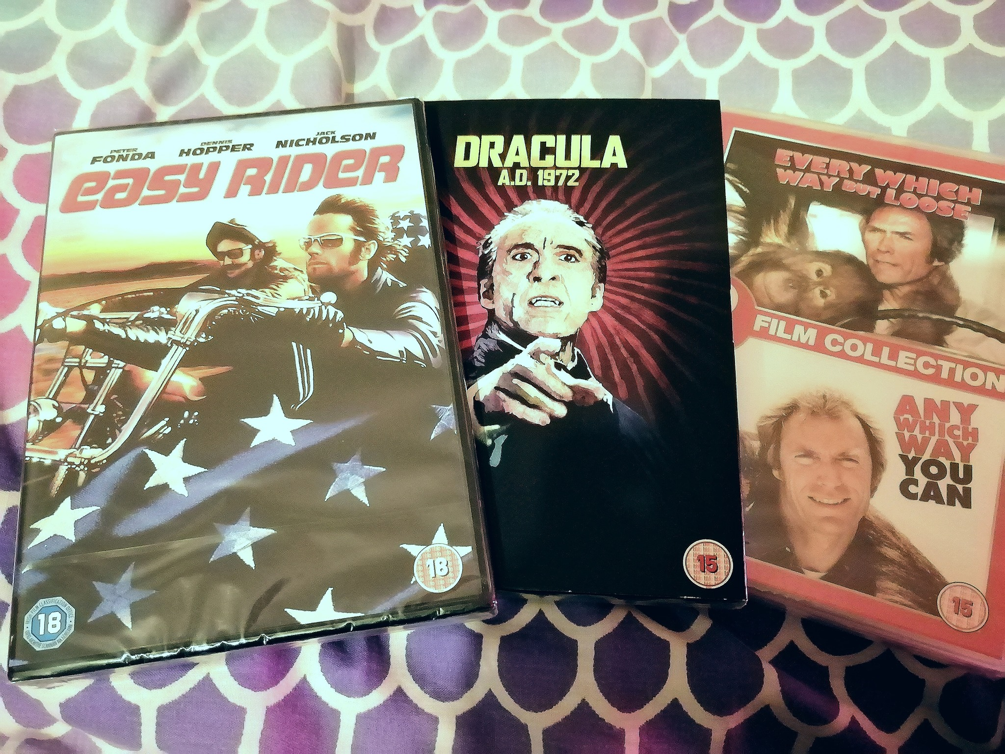 DVD collection Road Trip movies and Dracula movie