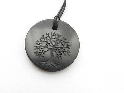 Black Crystal Tree Pendant