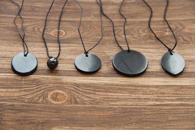 Shungite pendants