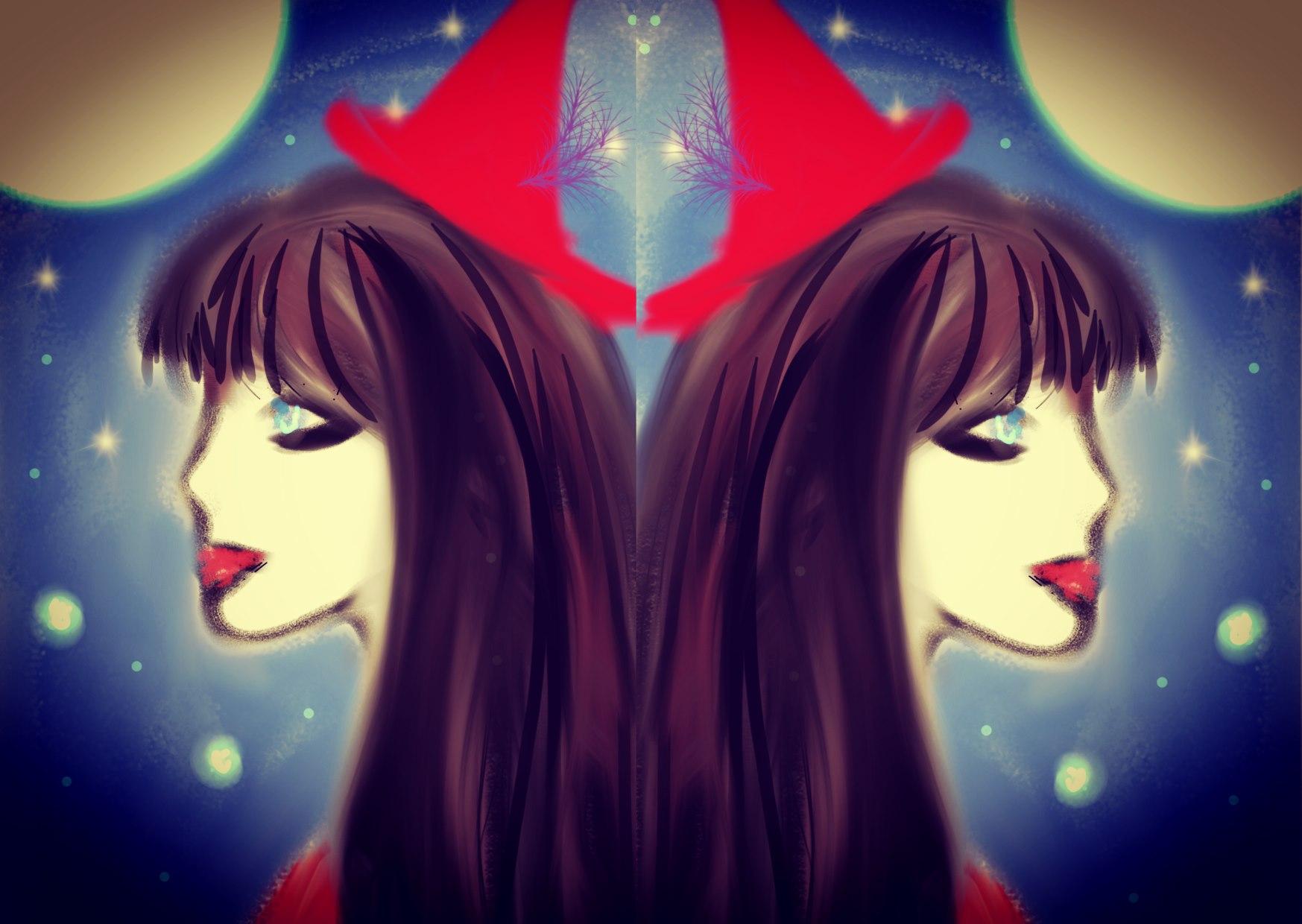 Spoooky Sorceress Art Gemini Full Moon