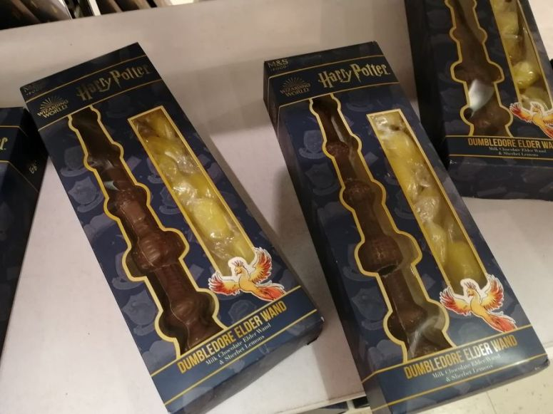 Christmas Harry Potter Chocolate Dumbledore Wands Marks and Spencers