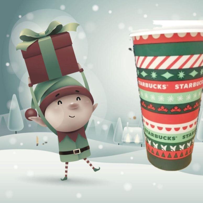 Christmas Starbucks with Elf