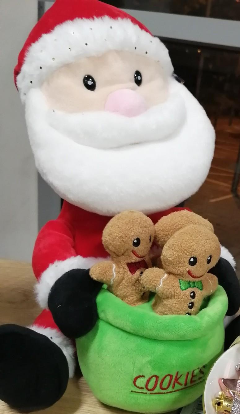 Cute Santa Cuddly toy with Gingerbread Men (2)