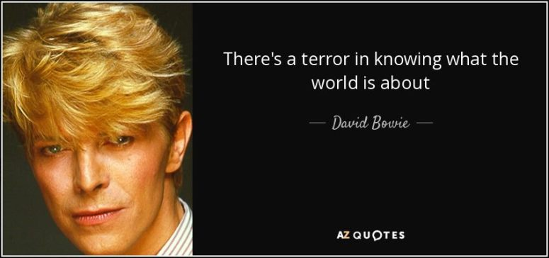 David Bowie Dystopia Quote