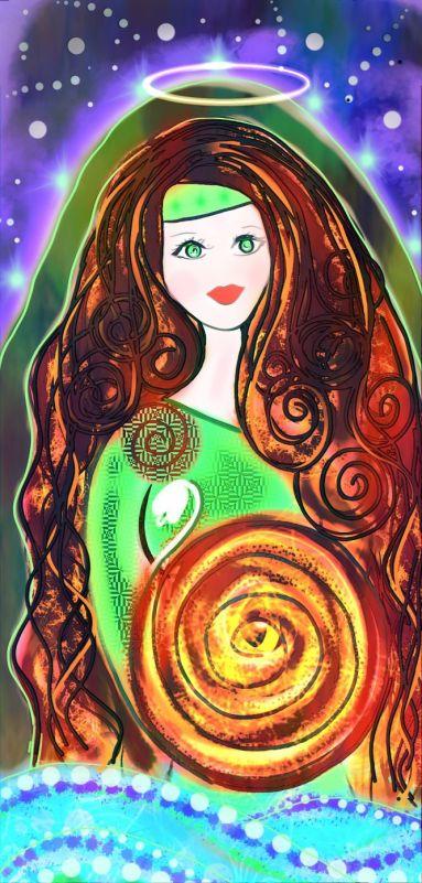 Saint Bridid Celtic Goddess Cosmic Art