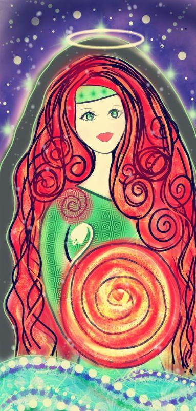 Saint Brigid Goddess Imbolc Art