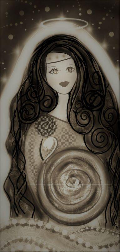 Saint Brigid Mystical Goddess Art Sultry Mystical